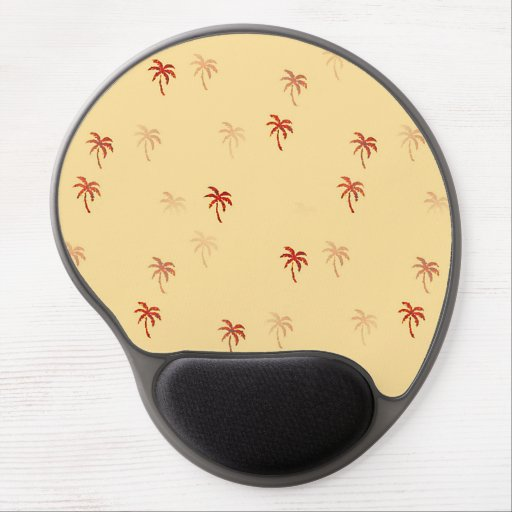Palm Trees in the Mist Gel Mousepad