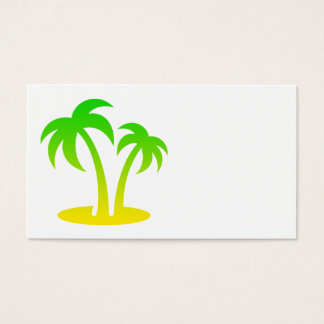 Palm Trees Island Business Cards