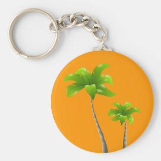 Palm Trees Key Chain