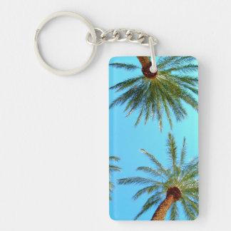 Palm Trees Keychain Rectangular Acrylic Keychains