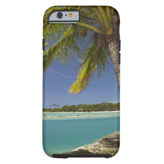 Palm trees & lagoon, Musket Cove Island Resort Tough iPhone 6 Case