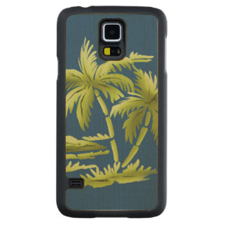 Palm Trees Maple Galaxy S5 Slim Case