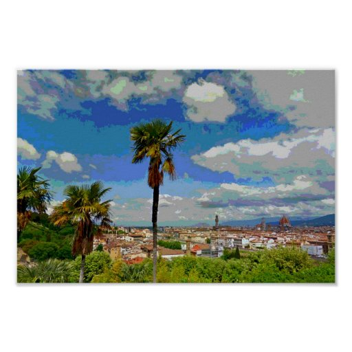 Palm Trees of Florence Posters