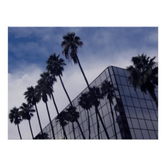 Palm Trees & Office Building Print