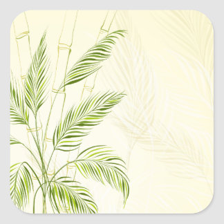Palm Trees on Bamboo Forest | Sticker Seal