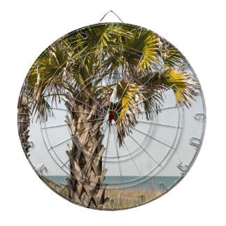 Palm Trees on Myrtle Beach East Coast Boardwalk Dartboard