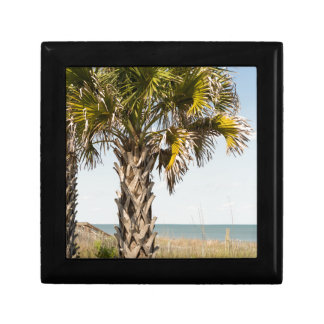 Palm Trees on Myrtle Beach East Coast Boardwalk Gift Box