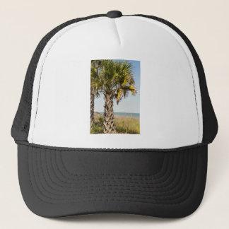 Palm Trees on Myrtle Beach East Coast Boardwalk Trucker Hat