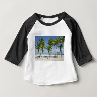 Palm Trees on Sunny Key Biscayne Baby T-Shirt