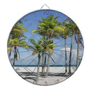 Palm Trees on Sunny Key Biscayne Dartboard