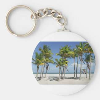 Palm Trees on Sunny Key Biscayne Key Ring