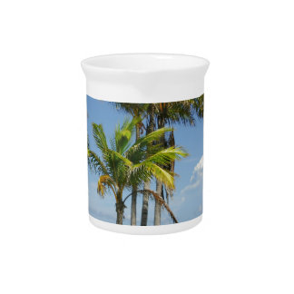 Palm Trees on Sunny Key Biscayne Pitcher