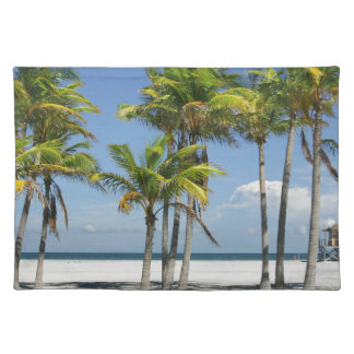 Palm Trees on Sunny Key Biscayne Placemat