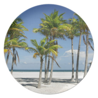 Palm Trees on Sunny Key Biscayne Plate