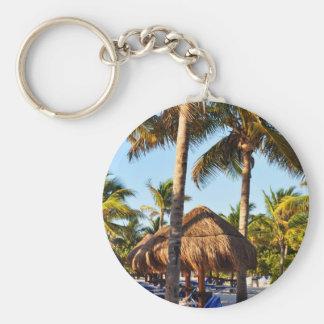 palm trees on the beach keychain