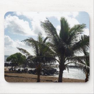 Palm Trees on the Beach Mousepad