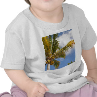 palm trees on the beach tee shirts