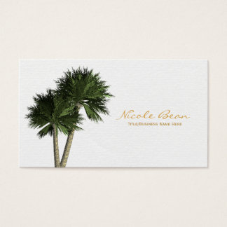 Palm Trees on White Elegant Business Cards