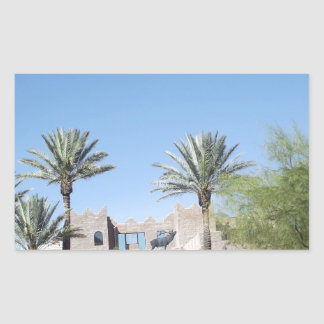 Palm Trees Rectangular Sticker
