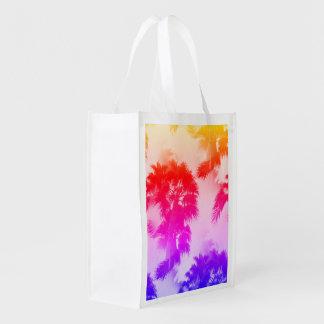 Palm trees reusable bag