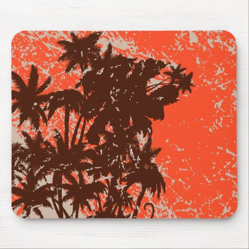 Palm Trees Silhouette Mousepads