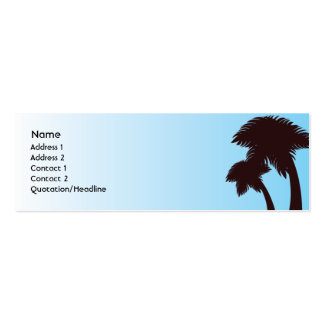 Palm Trees - Skinny Pack Of Skinny Business Cards