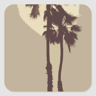 Palm Trees Square Sticker