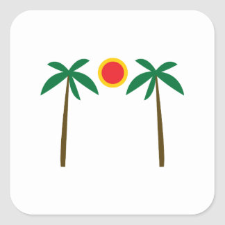 Palm Trees Square Stickers