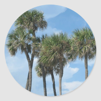 Palm Trees Round Stickers