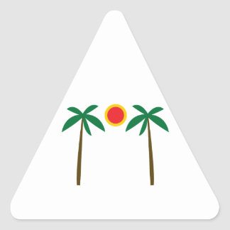 Palm Trees Triangle Stickers