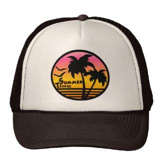 palm trees, summer cap