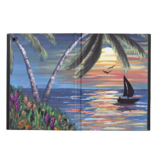 Palm Trees Sunset Ocean Painting