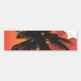 Palm Trees Sunset Silhouettes Bumper Sticker