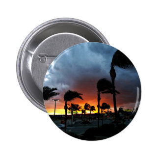 Palm Trees Swaying in the Breeze at Sunset 6 Cm Round Badge