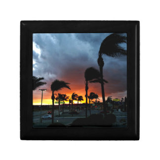 Palm Trees Swaying in the Breeze at Sunset Gift Box