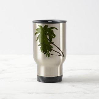Palm Trees Tropical Hawaiian Theme White Trendy Travel Mug