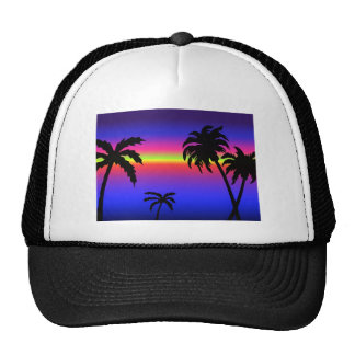 Palm Trees Tropical Sunset Hat
