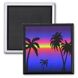 Palm Trees Tropical Sunset Magnet