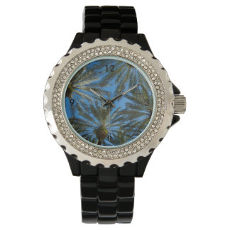Palm Trees Umbrella Wrist Watch