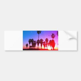 Palm Trees Venice Beach Car Bumper Sticker