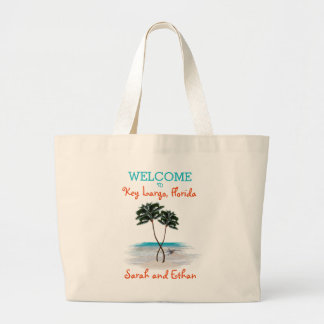 Palm Trees Weekend Wedding Welcome Large Tote Bag