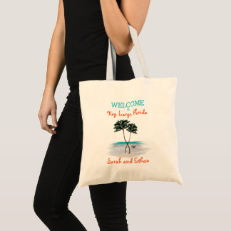 Palm Trees Weekend Wedding Welcome Tote Bag