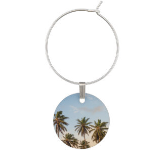 Palm Trees Wine Charm