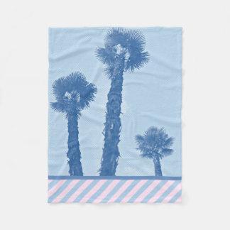 Palm trees - Winter in Opatija #3 Fleece Blanket