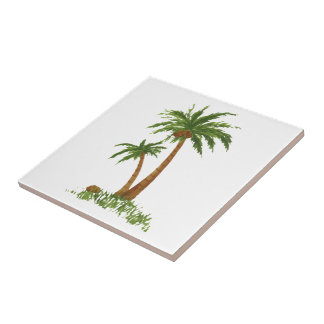 "Palm TreeTile 4.25x4.25"" Tile"