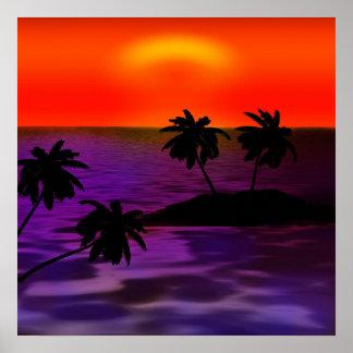 Palm Water Skies Personalize Destiny Destiny'S Poster
