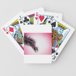 Palm winks Leaf with Sun Poker Deck