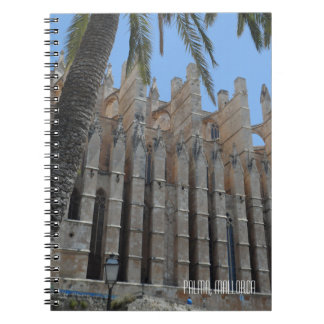 Palma Gothic Cathedral Majorca Spain Souvenir Spiral Notebook