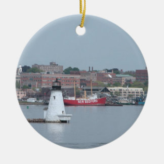 Palmer Island, New Bedford Harbor Ceramic Ornament
