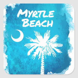Palmetto Paint Splatter Square Sticker